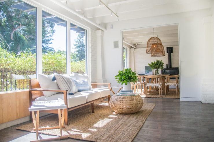 Bluestone Lane Café Los Altos coastal inspired interior sunny spot