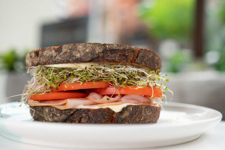 Sandwich on a plate